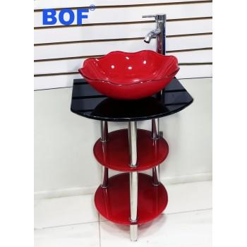 Vanitorio Cristal Cod 210 Rojo